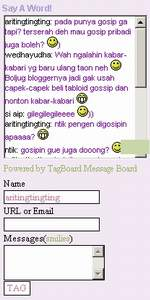 contoh tag-board