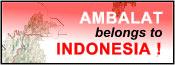 Ambalat belongs to Indonesia! Banner